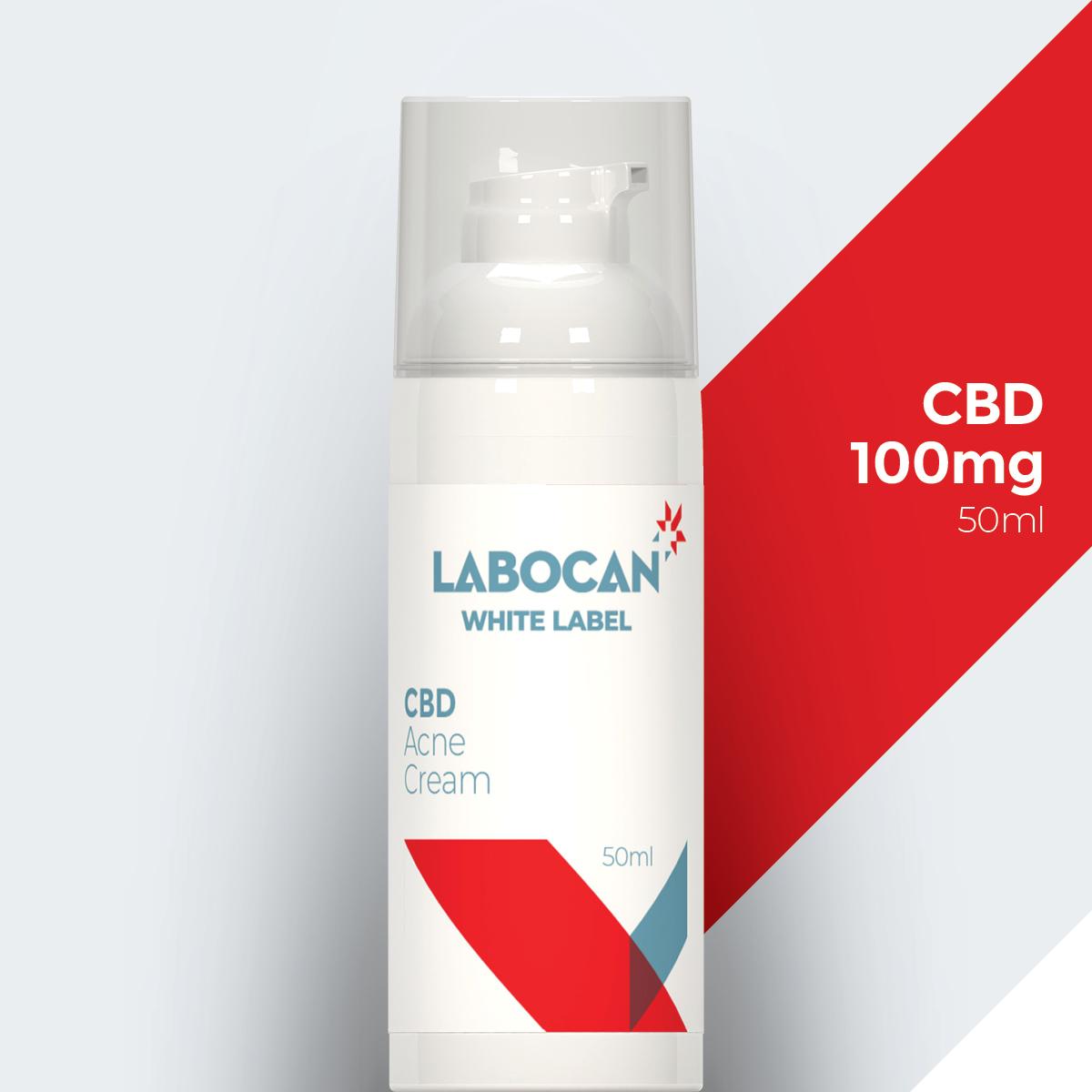 Crème contre l'acné au CBD de marque blanche